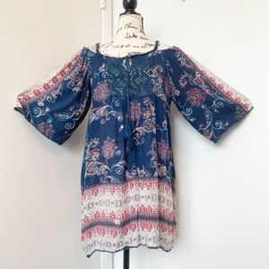 Angie Cold Shoulder Tunic Dress